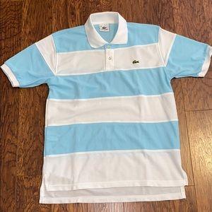 Men's Lacoste Striped Golf Polo Sz 4/Small